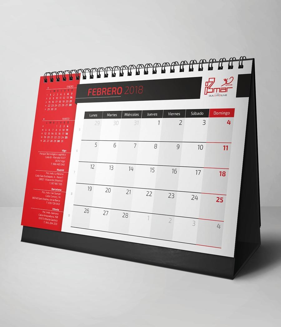 Izmar Calendario 2018 3