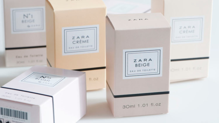 Diseño packaging Perfumes Zara