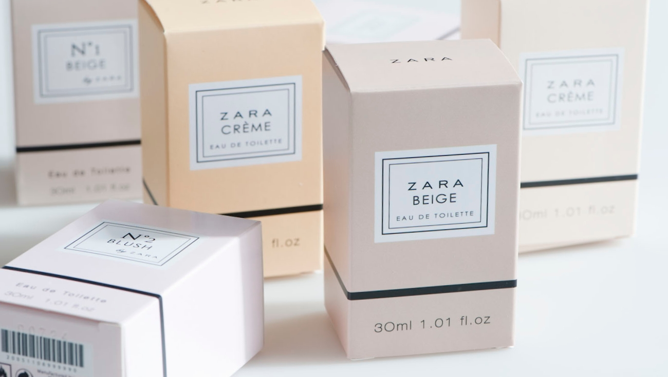 Diseño packaging Perfumes Zara