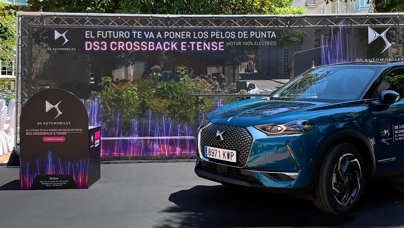 Acción de presentación del nuevo DS3 Crossback E-Tense, gracias a DS Psaretail Vigo y Portamérica,