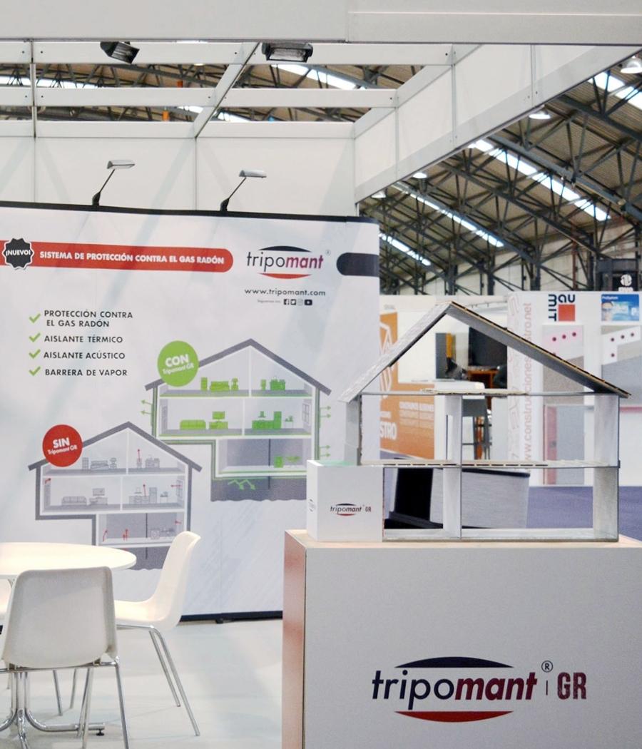 Stand de Tripomant que diseñamos para acudir a este punto de encuentro para empresas del sector.